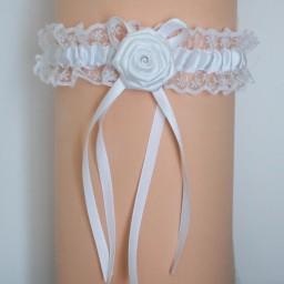 Jarretière mariage blanche JA106