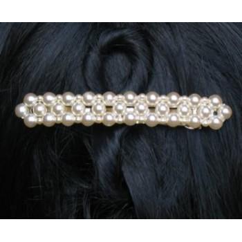 Barrette mariage perles ivoire BA2001A