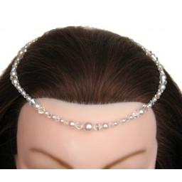 Bijou de tête blanc et cristal BT4071A