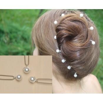 Epingles à cheveux mariage blanc EP1007A