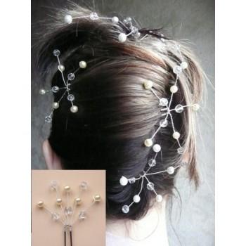 Epingle à cheveux mariage ivoire et cristal EP1013A
