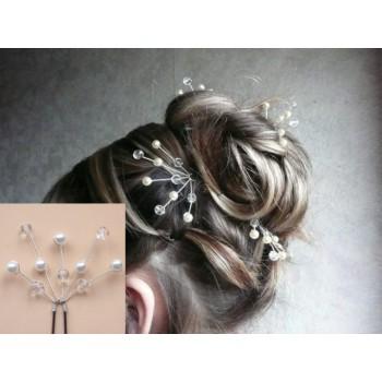 Epingle à cheveux mariage blanc cristal EP1014A