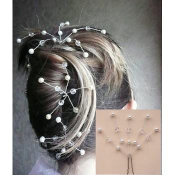 Epingle à cheveux mariage ivoire et cristal EP1015A