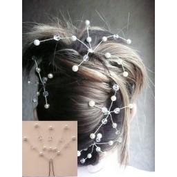 Epingle à cheveux mariage blanc et cristal EP1016A