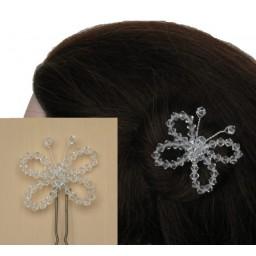 Epingle à cheveux mariage papillon cristal EP1026A