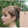 Epingle à cheveux mariage blanc et cristal EP1035A