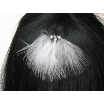 Epingle à cheveux mariage plumes EP1173P3