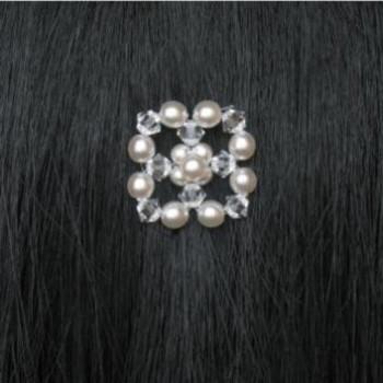 Epingle à cheveux mariage fleur blanc et cristal EP4220B