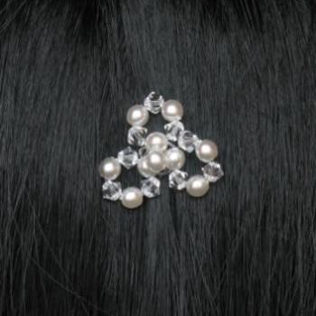 Epingle à cheveux mariage fleur cristal blanc EP4220C