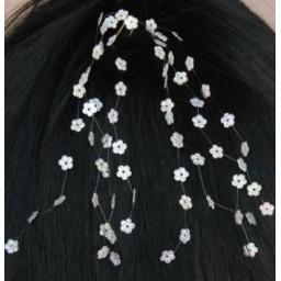 Epingle à cheveux mariage fleur blanc EP4245A