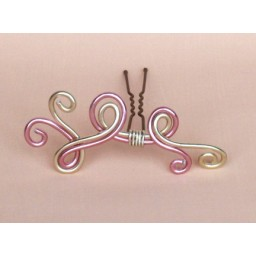 Epingle à cheveux aluminium rose et champagne EPA209A