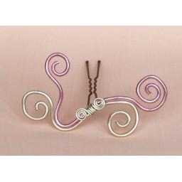 Epingle à cheveux aluminium rose et champagne EPA209B