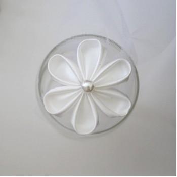 Epingle à cheveux fleur blanche EP2004A