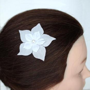 Epingle à cheveux fleur blanche EP1239B