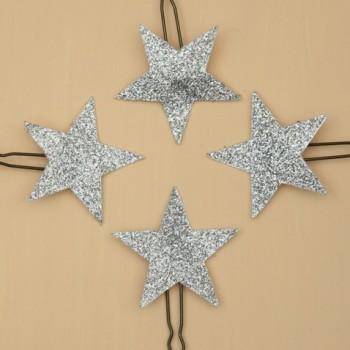 4 épingles à cheveux étoiles argent EP358B