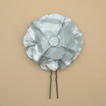 Epingle à cheveux fleur argent EP3000