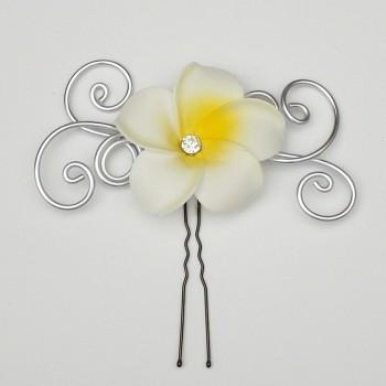Epingle à cheveux fleur de tiaré EPA363