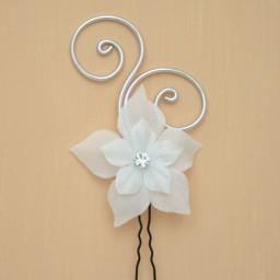 Epingle à cheveux mariage fleur blanc EP1280A