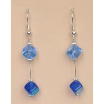 Boucles d oreilles bleus BO1175A