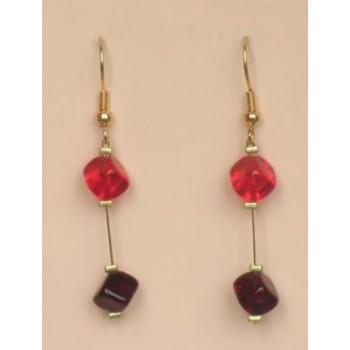 Boucles d oreilles rouge BO1176A