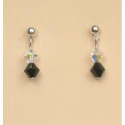 Boucles d oreilles noir BO1190A