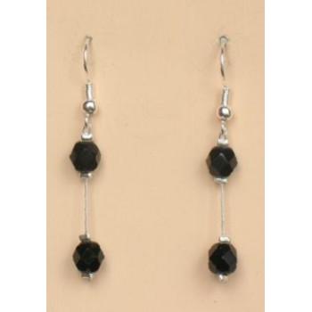 Boucles d oreilles noir BO1196A