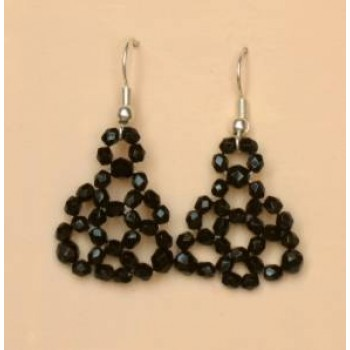 Boucles d oreilles noir BO4244A