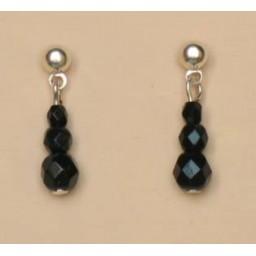 Boucles d oreilles noir BO4244B