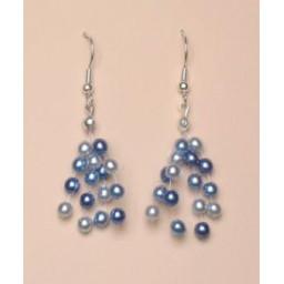 Boucles d oreilles bleues BO4258Z