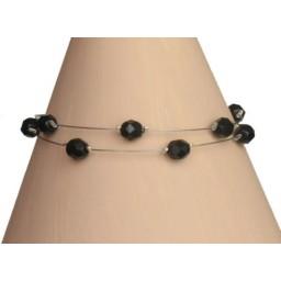 Bracelet fantaisie noir BR1186B