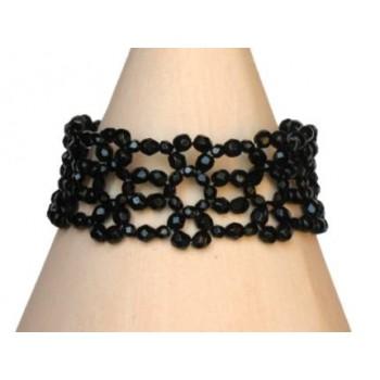Bracelet fantaisie noir BR4244A