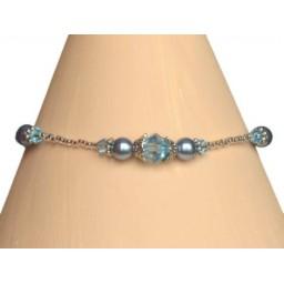 Bracelet bleu et cristal BR4264A