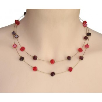 Collier rouge CO1176A