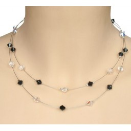 Collier cristal noir CO1190A
