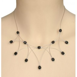 Collier fantaisie noir CO1196A