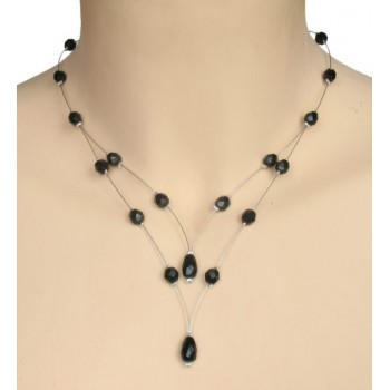 Collier fantaisie noir CO1198A