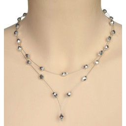 Collier fantaisie argenté CO1199A
