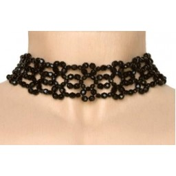Collier fantaisie noir CO4244A