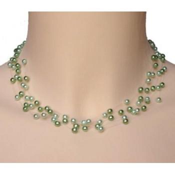Collier perles vert CO4257Z