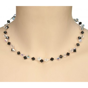 Collier cristal noir CO4266A
