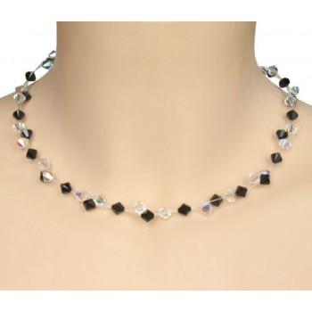 Collier cristal noir CO4266A