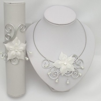 Parure mariage fleur blanc PA1280A