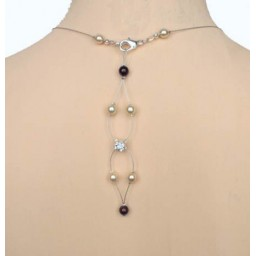 Bijou pendentif de dos ivoire et chocolat BD0010A