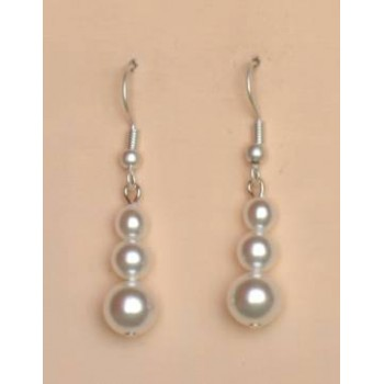 Boucles d oreilles mariage blanc BO1162A