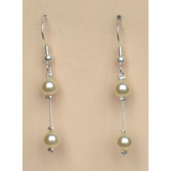 Boucles d oreilles mariage ivoire BO1183A