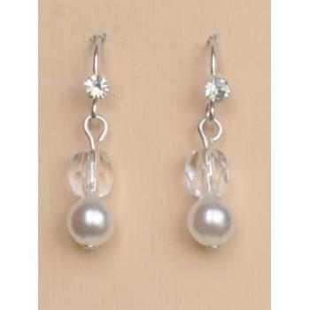 Boucles d oreilles mariage blanc cristal BO1188A