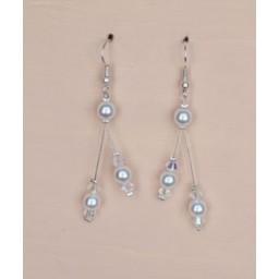 Boucles d oreilles blanc cristal BO1204A