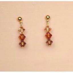 Boucles d oreilles cristal BO1209A