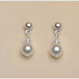 Boucles d oreilles mariage blanc cristal BO2037Z