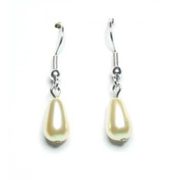 Boucles d oreilles mariage goutte ivoire BO2084A